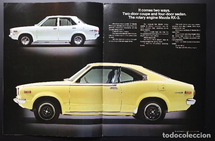 Coches y Motocicletas: Catálogo MAZDA RX-3 Rotary Power (Motor Rotativo Wankel) Años 70. Gran formato. - Foto 3 - 61510459
