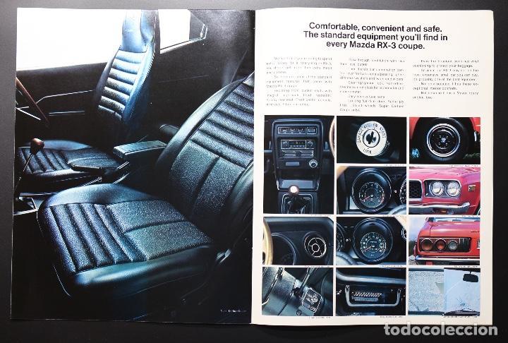 Coches y Motocicletas: Catálogo MAZDA RX-3 Rotary Power (Motor Rotativo Wankel) Años 70. Gran formato. - Foto 4 - 61510459