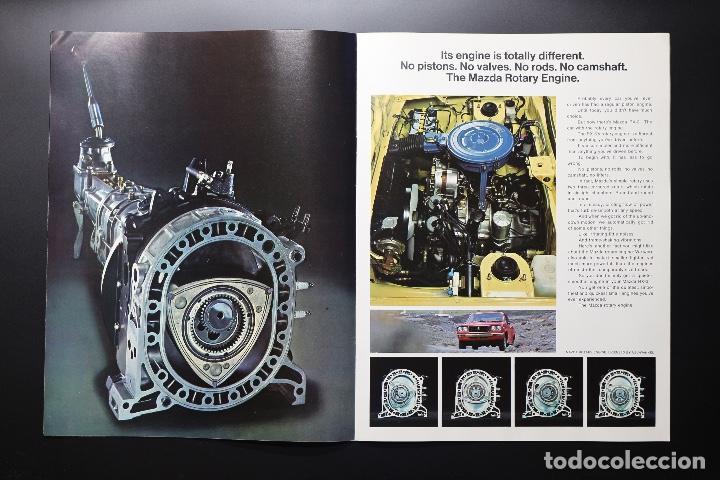 Coches y Motocicletas: Catálogo MAZDA RX-3 Rotary Power (Motor Rotativo Wankel) Años 70. Gran formato. - Foto 5 - 61510459