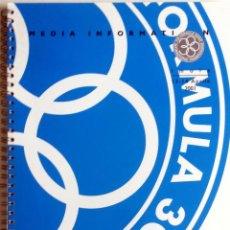 Coches y Motocicletas: DOSSIER DE PRENSA OFICIAL- F1 - G.P. SAN MARINO, CIRCUITO ÍMOLA 2001. TEXTO EN INGLÉS E ITALIANO.. Lote 61545960