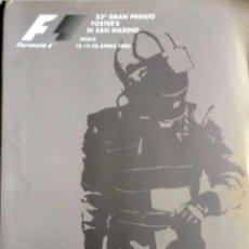Coches y Motocicletas: DOSSIER DE PRENSA OFICIAL- F1 - G.P. SAN MARINO, CIRCUITO ÍMOLA 2003. TEXTO EN INGLÉS E ITALIANO.. Lote 61546092