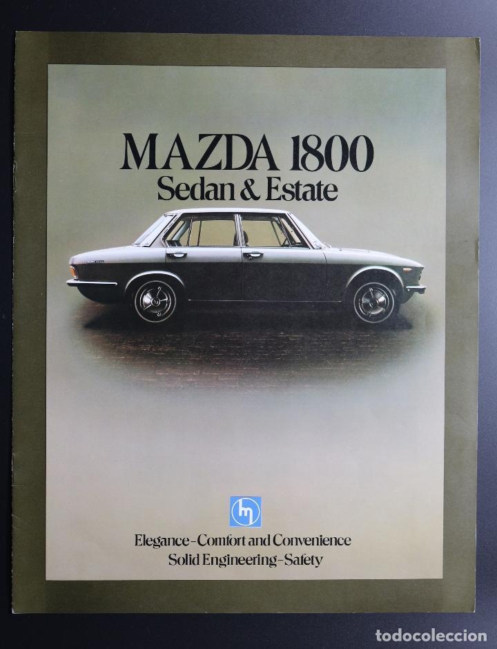 CATÁLOGO MAZDA 1800 SEDÁN Y ESTATE (Coches y Motocicletas Antiguas y Clásicas - Catálogos, Publicidad y Libros de mecánica)