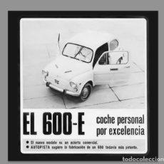 Coches y Motocicletas: AZULEJO 20X20 DE PUBLICIDAD SEAT 600D. Lote 61570872