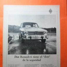Coches y Motocicletas: PUBLICIDAD 1969 - COLECCION COCHES - RENAULT 6. Lote 62146024