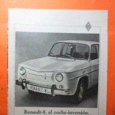 Coches y Motocicletas: PUBLICIDAD 1970 - COLECCION COCHES - RENAULT 8. Lote 62146128