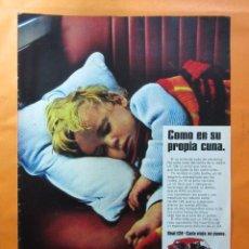 Coches y Motocicletas: PUBLICIDAD 1970 - COLECCION COCHES - SEAT 124. Lote 62147428