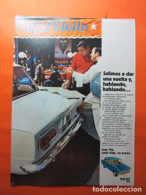 PUBLICIDAD 1970 - COLECCION COCHES - SEAT 124 (Coches y Motocicletas Antiguas y Clásicas - Catálogos, Publicidad y Libros de mecánica)