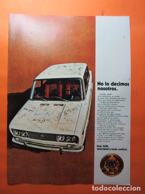 PUBLICIDAD 1970 - COLECCION COCHES - SEAT 1430 (Coches y Motocicletas Antiguas y Clásicas - Catálogos, Publicidad y Libros de mecánica)
