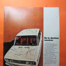 Coches y Motocicletas: PUBLICIDAD 1970 - COLECCION COCHES - SEAT 1430. Lote 110667024