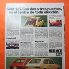 Coches y Motocicletas: PUBLICIDAD 1972 - COLECCION COCHES - SEAT 127. Lote 62147664