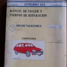 Coches y Motocicletas: MANUAL DE TALLER CITRÖEN GSA -TOMO I. Lote 62271812