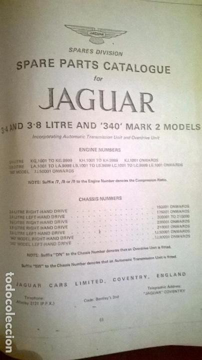 Coches y Motocicletas: Libro .Catalogo.Coche Jaguar,508 pg.Medida 22x32 cm.Editado en ingles - Foto 3 - 62383388