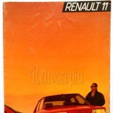 Coches y Motocicletas: CATALOGO DESPLEGABLE PUBLICIDAD RENAULT 11 TXE AÑO 1987 EN CASTELLANO . Lote 62465660