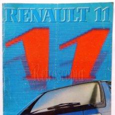 Coches y Motocicletas: CATALOGO TRÍPTICO DESPLEGABLE PUBLICIDAD RENAULT 11 TSE AÑO 1983 EN CASTELLANO . Lote 62467796