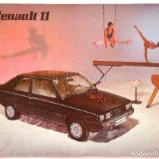 Coches y Motocicletas: CATALOGO PUBLICIDAD RENAULT 11 GTS GTL TSE AÑO 1984 EN CASTELLANO. Lote 62470880