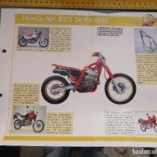 Coches y Motocicletas: MOTO MOTOR HONDA DOMINATOR. Lote 62516000