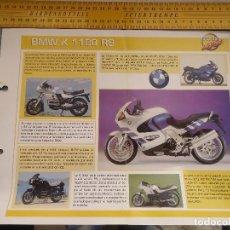 Coches y Motocicletas: MOTO MOTOR BMW K 1100 RS. Lote 62516276