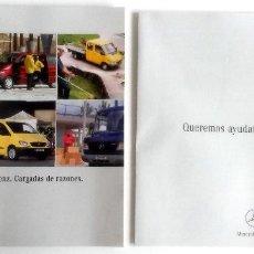 Coches y Motocicletas: CATÀLOGO ORIGINAL MERCEDES-BENZ - FURGONETAS -.. Lote 62968620