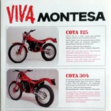 Coches y Motocicletas: CATÀLOGO ORIGINAL MONTESA COTA - 125 - 304 - 335 - ENDURO 360 H7S - IMPALA 125 - IMPALA 2.. Lote 62972284