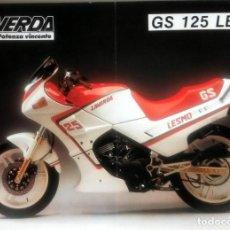 Coches y Motocicletas: CATÁLOGO ORIGINAL LAVERDA GS 125 LESMO.. Lote 63119804
