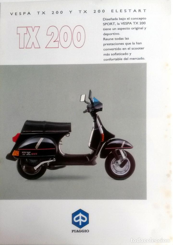 CATÁLOGO ORIGINAL VESPA TX 200- TX 200 ELESTART. (Coches y Motocicletas Antiguas y Clásicas - Catálogos, Publicidad y Libros de mecánica)