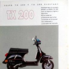 Coches y Motocicletas: CATÁLOGO ORIGINAL VESPA TX 200- TX 200 ELESTART.. Lote 63121172