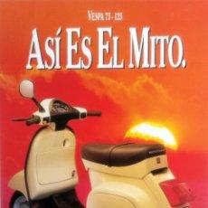 Coches y Motocicletas: CATÁLOGO ORIGINAL VESPA 75 - 125.. Lote 63121268