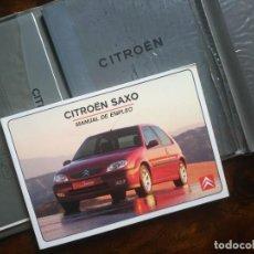 Coches y Motocicletas: LIBRO CITROEN SAXO MANUAL DE EMPLEO RED DE ESPAÑA Y MANUAL DE INSTRUCCIONES SISTEMA AUDIO. Lote 63298296