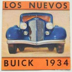 Coches y Motocicletas: CATALOGO COCHE BUICK AÑO 1934 - PRECIOSO - EN CASTELLANO - ORIGINAL DE ÉPOCA. Lote 63358636