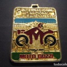 Coches y Motocicletas: MEDALLA MOTO GUZZI. 1ª MUESTRA INTERNACIONAL - 3ª NACIONAL. ALCALA DE HENARES 1987. Lote 63495248