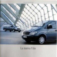 Coches y Motocicletas: CATÁLOGO ORIGINAL MERCEDES-BENZ VITO.. Lote 63562256