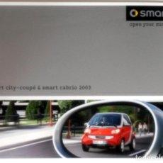 Coches y Motocicletas: CATÁLOGO ORIGINAL SMART CITY - COUPÉ & SMART CABRIO 2003.. Lote 63563428
