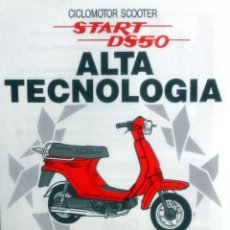 Coches y Motocicletas: CATÁLOGO ORIGINAL DERBI CICLOMOTOR SCOOTER START DS 50.. Lote 63565332
