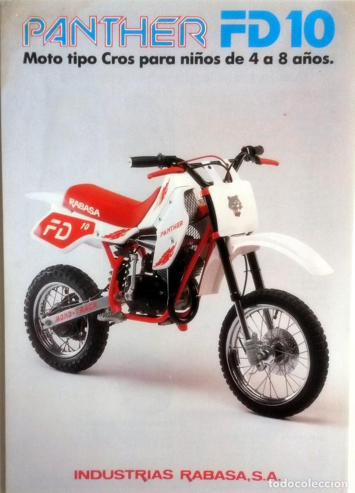 CATÁLOGO ORIGINAL PANTHER FD 10 - RABASA. (PARA NIÑOS) (Coches y Motocicletas Antiguas y Clásicas - Catálogos, Publicidad y Libros de mecánica)