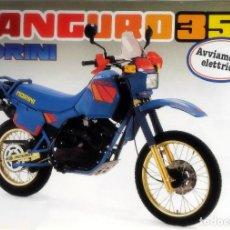 Coches y Motocicletas: CATÁLOGO ORIGINAL MOTO MORINI KANGURO 350.. Lote 161714470