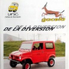 Coches y Motocicletas: CATÁLOGO ORIGINAL GACELA - UNIC.. Lote 63657559