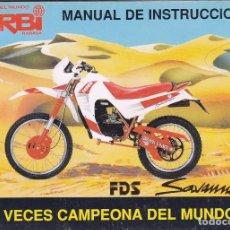 Coches y Motocicletas: DERBI SAVANNAH. MANUAL DE INSTRUCCIONES 1990. Lote 63815863