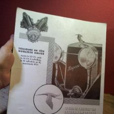 Coches y Motocicletas: ANTIGUO CARTEL PUBLICIDAD PRENSA SOBRE CARTULINA EPOCA- ORIGINAL AÑOS 30-HISPANO SUIZA AUTOMOVILES. Lote 63975543