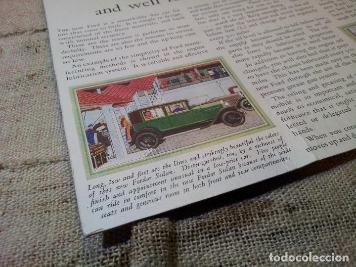 Coches y Motocicletas: antiguo cartel publicidad prensa sobre carton duro epoca- ORIGINAL AÑOS 30 . FORD- AUTOMOVILES - Foto 2 - 63975767