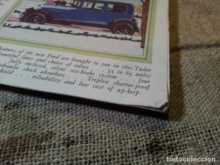 Coches y Motocicletas: antiguo cartel publicidad prensa sobre carton duro epoca- ORIGINAL AÑOS 30 . FORD- AUTOMOVILES - Foto 3 - 63975767