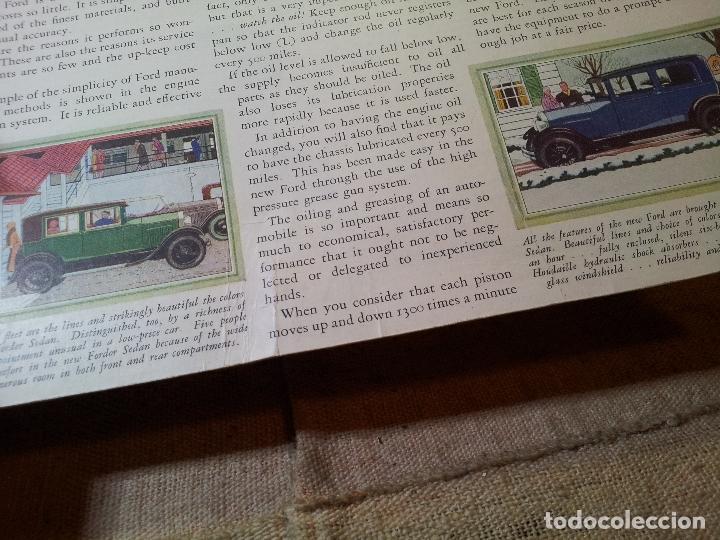 Coches y Motocicletas: antiguo cartel publicidad prensa sobre carton duro epoca- ORIGINAL AÑOS 30 . FORD- AUTOMOVILES - Foto 4 - 63975767
