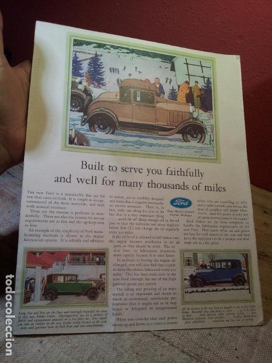 Coches y Motocicletas: antiguo cartel publicidad prensa sobre carton duro epoca- ORIGINAL AÑOS 30 . FORD- AUTOMOVILES - Foto 5 - 63975767