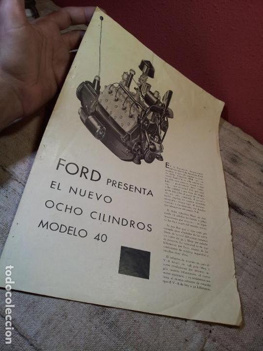 CATALOGO ORIGINAL FORD PRESENTACION NUEVO OCHO CILINDROS MODELO 40--AÑOS 30 ORIGINAL (Coches y Motocicletas Antiguas y Clásicas - Catálogos, Publicidad y Libros de mecánica)