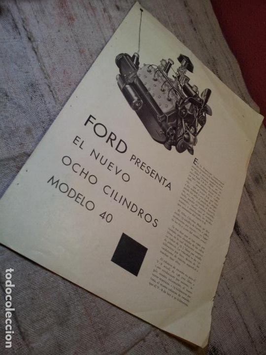 Coches y Motocicletas: CATALOGO ORIGINAL FORD PRESENTACION NUEVO OCHO CILINDROS MODELO 40--AÑOS 30 ORIGINAL - Foto 3 - 63976323