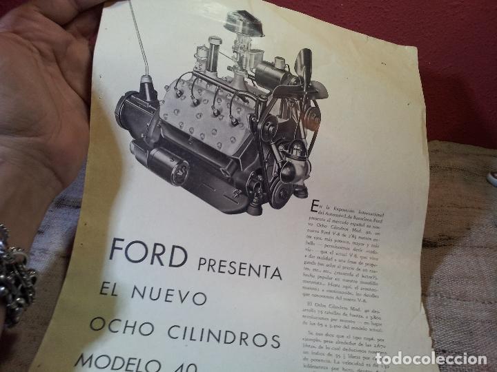 Coches y Motocicletas: CATALOGO ORIGINAL FORD PRESENTACION NUEVO OCHO CILINDROS MODELO 40--AÑOS 30 ORIGINAL - Foto 10 - 63976323