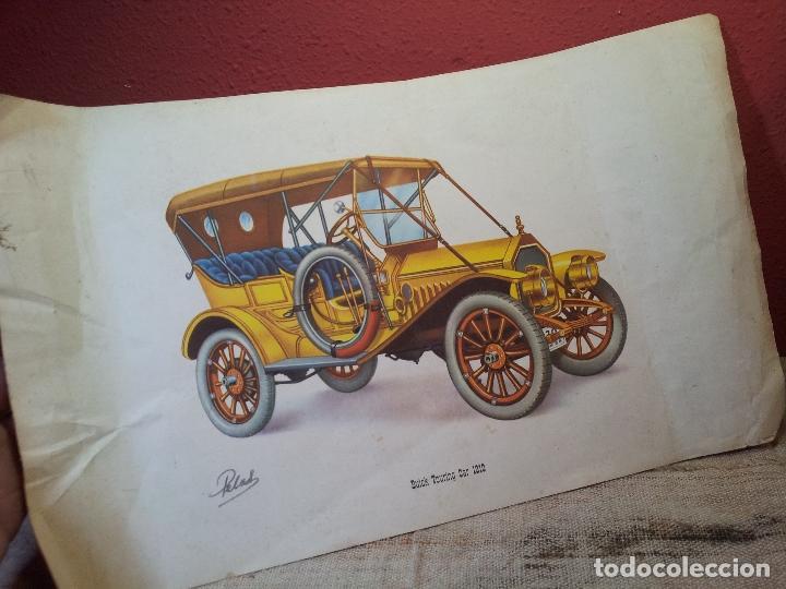 ANTIGUA LAMINA ORIGINAL AÑOS 30 BUICK TOURING CAR 1910 (Coches y Motocicletas Antiguas y Clásicas - Catálogos, Publicidad y Libros de mecánica)