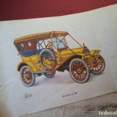 Coches y Motocicletas: ANTIGUA LAMINA ORIGINAL AÑOS 30 BUICK TOURING CAR 1910. Lote 63976431
