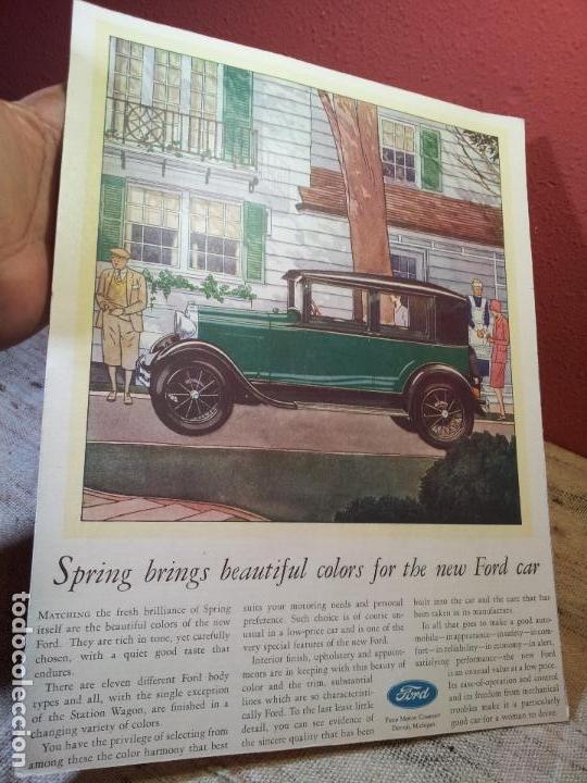 Coches y Motocicletas: antiguo cartel publicidad prensa sobre carton duro epoca- ORIGINAL AÑOS 30 . FORD- AUTOMOVILES  - Foto 4 - 63976783