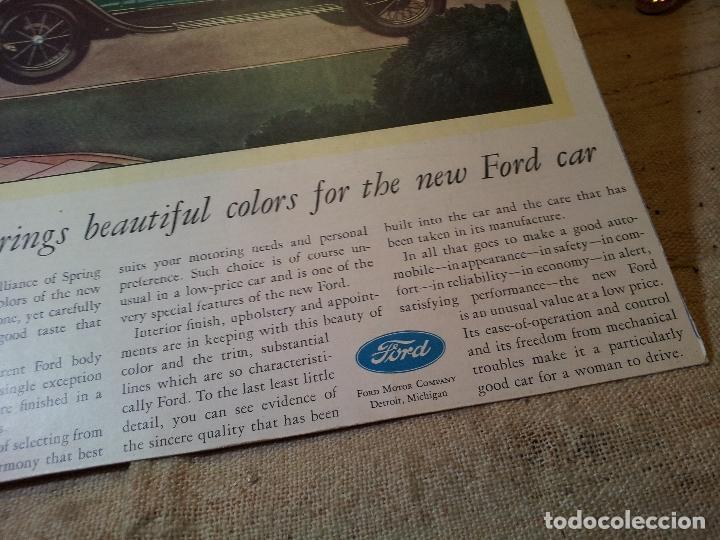 Coches y Motocicletas: antiguo cartel publicidad prensa sobre carton duro epoca- ORIGINAL AÑOS 30 . FORD- AUTOMOVILES  - Foto 6 - 63976783
