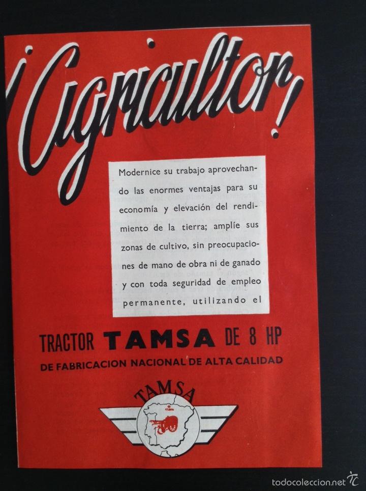 FOLLETO PUBLICITARIO TRACTOR TAMSA. COMPLETO E IMPECABLE (Coches y Motocicletas Antiguas y Clásicas - Catálogos, Publicidad y Libros de mecánica)